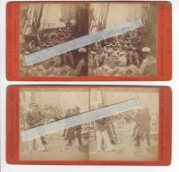 2 Stéréos REISE S.M.S. HERTHA NACH OST ASIEN UND DEN SUDSEE INSELN PHOTO STEREO STIEHM 1883 BERLIN /FREE SHIPPING R - Photos Stéréoscopiques