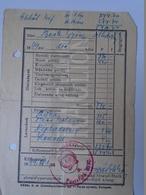DC30.10 Hungary  Beck György Alhadnagy - Military - Honvédség -  1949  Salary Card - Invoices & Commercial Documents