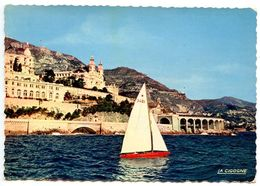 Monaco Modern Postcard Monte-Carlo, Casino And The Tir Aux Pigeons - Monte-Carlo