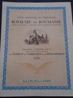 ROUMANIE / EMPRUNT 1929 7% OR / LOT DE 2 TITRES / BELLE DECO - Non Classificati