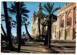 Monaco Modern Postcard Monte-Carlo, Casino And Palm Trees - Monte-Carlo