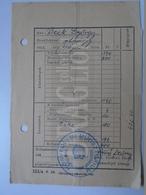 DC30.11 Hungary  Beck György Alhadnagy - Military - Honvédség -  1951  Salary Card - Invoices & Commercial Documents