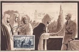 MAROC  Carte Maximum  Marechal Lyautey  Nov. 1954 - Maroc (1891-1956)