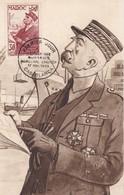 MAROC  Carte Maximum  Marechal Lyautey  Nov. 1954 - Lettres & Documents