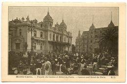Monaco Vintage Postcard Monte-Carlo, Casino And Hotel De Paris - Monte-Carlo