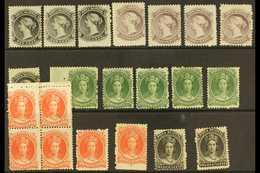 NOVA SCOTIA 1860 - 1863 Mint Selection With 1c (4), 2c Shades (4), 8½c Green Shades (5), 10c (6 Incl Block Of 4) And 12½ - Nova Scotia