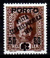Cecoslovacchia-058 - Valori Del 1919 (+) Hinged - Senza Difetti Occulti. - Cecoslovacchia