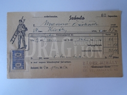 DC30.12 Hungary  Facture De Ramonage -Chimney Sweep Bill - 1949 Budapest Király Utca  57 -Bader Mihály - Invoices & Commercial Documents