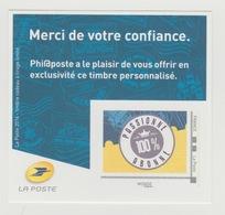 France 2016 - MonTimbraMoi IDTimbre Monde 20Gr Phil@poste Adhésif Autoadhésif 100% Passionné - 100% Abonné - Neuf** - France