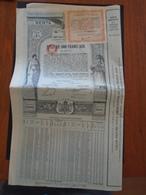 ROUMANIE / RENTE 1903 5% OR / LOT 2 TITRES / DECO - Non Classificati