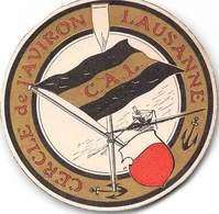 Cercle De L'Aviron Lausanne - Carte De Membres Vers 1900 Et 1910. (6.5 De Diamètre) - Suisse - Old Paper