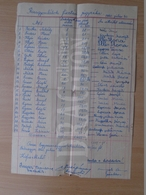 DC30.13 Hungary  Rice Weeders's List  1960  - Payout List  -Bélmegyer - Invoices & Commercial Documents