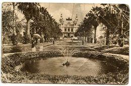 Monaco 1919 Postcard Monte-Carlo - The Casino And The Gardens With Water Fountain - Monte-Carlo