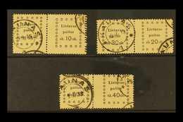 1919 SE-TENANT PAIRS. 1919 Third Kaunas Issue Three Different Se-tenant Pairs With 15s+10s, 30s+20s & 50s+40s, All Very  - Lithuania