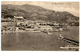 Monaco Vintage Postcard Monte-Carlo - Port / Harbor - Harbor