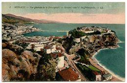 Monaco Vintage Postcard General View Of The Principally - Monaco