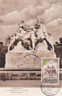 MAROC  Carte Maximum Casablanca Place Lyautey  Sep. 1952 - Lettres & Documents