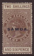"1914-24 2s6d Grey-brown ""De La Rue"" Paper, Perf 14½x14 Comb, SG 128, Very Fine Mint. Scarce! For More Images, Please Vis - Samoa"
