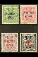 1935 - 1942 Postal Fiscal Set Complete, On Wiggins Teape Paper, SG 194a/d, Fine And Fresh Mint. Rare Set. (4 Stamps) For - Samoa