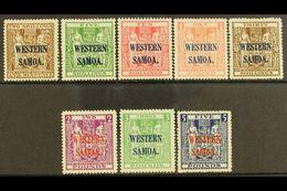 "1945 - 1953 2s 6d Deep Brown To £5 Indigo Blue Postal Fiscals On ""Wiggins Teape"" Paper Wmk Multiple NZ And Star, SG 207/ - Samoa"