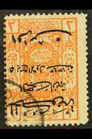 1925 1pi On 2pi Orange With Surch In Blue, SURCH INVERTED Variety, SG 169a, Fine Used. For More Images, Please Visit Htt - Saudi Arabia