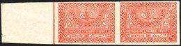 1934-57 ½d Deep Rose-red Horizontal IMPERF PAIR, SG 331, Never Hinged Mint, A Few Minor Wrinkles, Fresh & Scarce. (2 Sta - Saudi Arabia