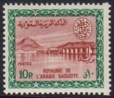 1964-72 10p Lake-brown And Blue Green Wadi Hanifa Dam Definitive, SG 566, Never Hinged Mint. For More Images, Please Vis - Saudi Arabia