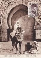MAROC  Carte  Journée Du Timbre  Mai 1953 - Maroc (1891-1956)