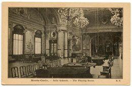 Monaco Vintage Postcard Monte-Carlo - Salle Schmitt / The Playing Room - Monte-Carlo
