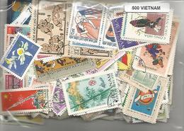 Lot De 500 Timbres Du Vietnam - Viêt-Nam