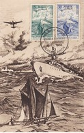 MAROC  Carte Maximum  Oeuvres Sociales De La Marine  Oct. 1954 - Maroc (1891-1956)