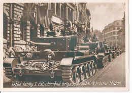 Tank Cruiser Mk.VIII Cromwell - Těžke Tanky Obrněné Brigády Projiždi Nápodni Třidou Czechoslovakia WW2 Shipping FREE - Unclassified
