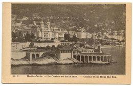 Monaco Vintage Postcard Monte-Carlo - Casino View From The Sea - Monte-Carlo