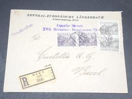 AUTRICHE - Enveloppe En Recommandé De Wien En 1930 Pour Basel - L 19855 - Brieven En Documenten