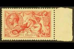 1918 5s Rose- Red Bradbury Seahorse, SG 416, Very Lightly Hinged Mint For More Images, Please Visit Http://www.sandafayr - 1902-1951 (Kings)