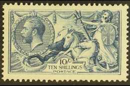 "1918-19 10s Blackish- Blue (""Steel Blue"") Bradbury Seahorse, SG Spec N71(3), Very Fine Mint Example Of This Lovely Strik - 1902-1951 (Kings)"