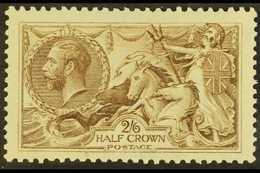 1918-19 2s6d Olive-brown Bradbury Seahorse, SG 413a, Never Hinged Mint. For More Images, Please Visit Http://www.sandafa - 1902-1951 (Kings)