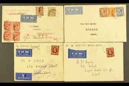 1931-1934 FLIGHT COVERS. Interesting Group Of Airmail Covers, Comprising 1931 (24 Apr) Cover To Java By The Second Exper - 1902-1951 (Kings)