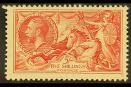 1934 5s Bright Rose- Red Re-engraved Seahorse, SG 451, Never Hinged Mint. For More Images, Please Visit Http://www.sanda - 1902-1951 (Kings)