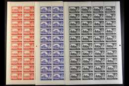 1963 Castles Set, SG 595a/598a, In Complete Sheets Of Forty, Plate Numbers 2s.6d 5A, 5s 3A, 10s 2 And £1 1A. (4 Sheets)  - 1952-.... (Elizabeth II)