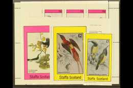 STAFFA AND EYNHALLOW (SCOTLAND) 1982 Locals Featuring Hummingbirds, All Different NHM Selection. (3 Stamps Plus 5 Mini-s - Great Britain