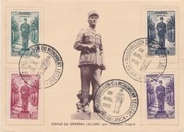 MAROC  Carte Maximum  Inauguration Du Monument Leclerc  Avr. 1951 (en Recommandé) - Lettres & Documents