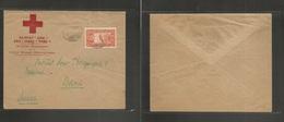 Ethiopia. 1935. Addis Abeba - Switzerland, Berna. Red Cross Ethiopienne. Fkd Airmail Usage To Vaccine Institute. VF. Int - Ethiopia