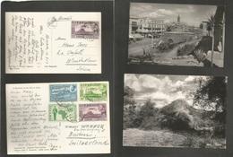 Ethiopia. 1954-5. Two Fkd Ppcds To Switzerland Asmara, Addis Aheba. - Ethiopia