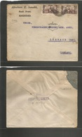 Iraq. C. 1920. British Mandate Ovptd Stamps. Baghdad - Germany, Lorrech. Fkd Env Very Fine. - Iraq