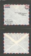 Muscat. 1957 (9 Feb) GPO - Switzerland, Lausanne. Air Single Fkd Env. Q EII NP 40, Cds. Fine Comercial Envelope. - Oman
