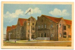 Canada Vintage Postcard High School, Moncton, New Brunswick - Other