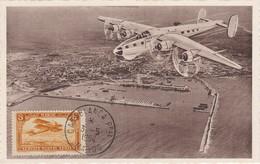 MAROC  Carte Service Posta Aérien  Casablanca  Mai 1954 - Maroc (1891-1956)