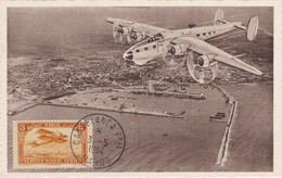 MAROC  Carte Service Posta Aérien  Casablanca  Mai 1954 - Lettres & Documents