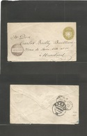 Salvador, El. 1889 (29 Sept) GPO - Spain, Madrid (27 Oct) 11c First Issue Stationary Envelope. Via NY (14 Oct) Very Rare - El Salvador